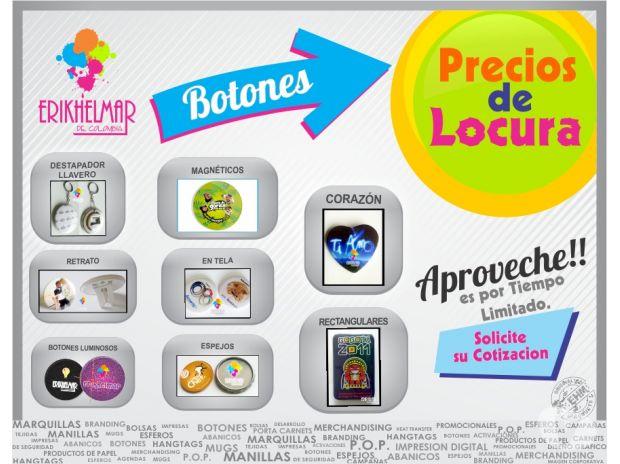 Fotos de BOTONES PUBLICITARIOS - ERIKHELMAR DE COLOMBIA