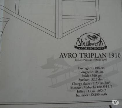 Photos Vivastreet PLAN AVION AVRO TRIPLAN1910 ELEC
