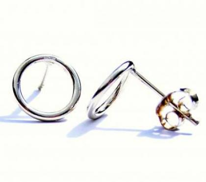 Photos for Handmade Silver Earrings - Silver Stud Earrings