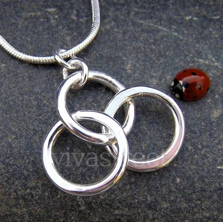 Photos #display# Vivastreet Circle of Life Necklace -Handmade Silver Jewellery