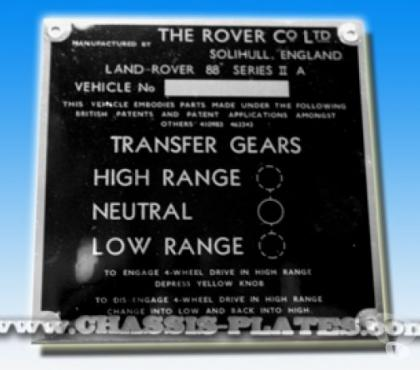 Photos for Land Rover series 2A 88 VIN / CHASSIS-PLATES