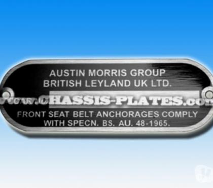 Photos for Austin Morris or Rover MINI Chassis / VIN Plate