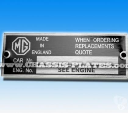 Photos for Replacement VIN / Chassis plate - Classic MG Cars / Vehicles