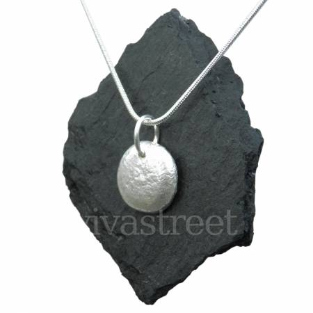 Photos for Recycled Silver Jewellery - Handmade Silver Pendant - Nugget