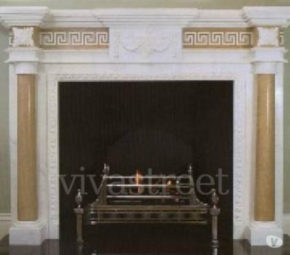 Photos for Antique marble and cast iron fireplace restoration.