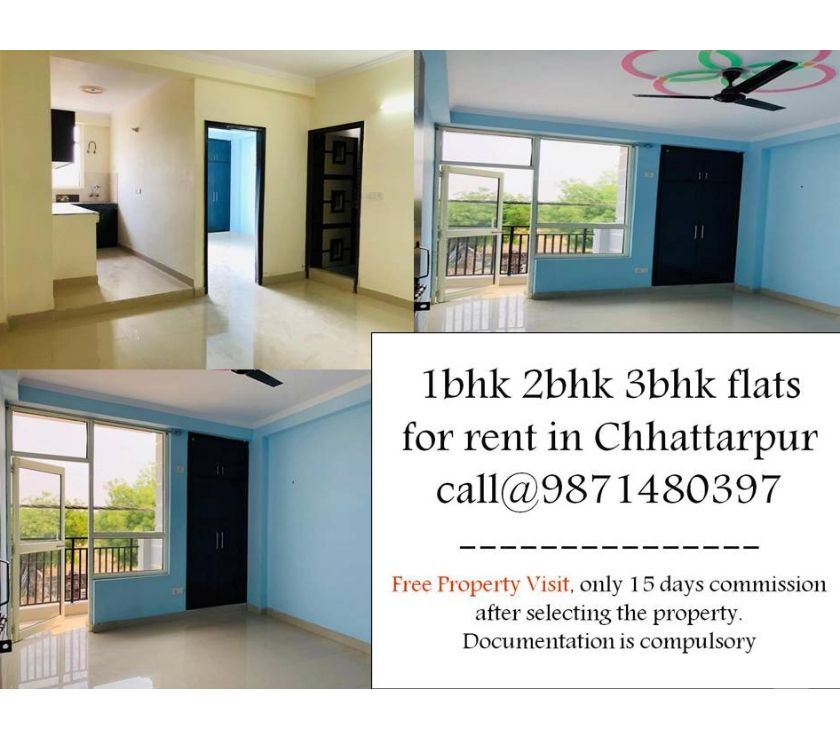 property for rent New Delhi - Photos for all type furnished or non-furnished flat for rent in chatta