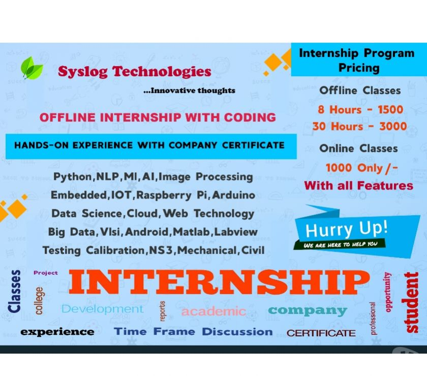 Other Services Bangalore - Photos for OFFLINE INTERNSHIP WITH CODING