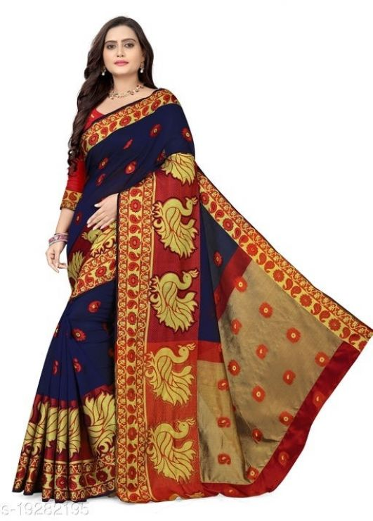 Buy & Sell Clothes Mangalore - Photos for Womens jacquard cotton silk saree