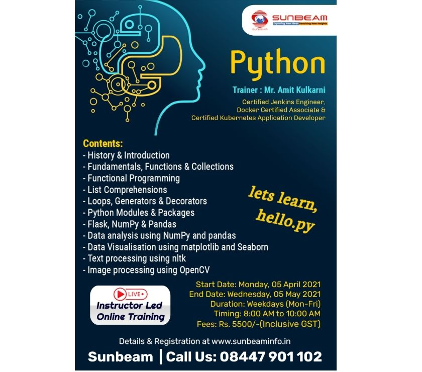 IT & Computer course Pune - Photos for Python classes in Pune | classroom training | sunbeam