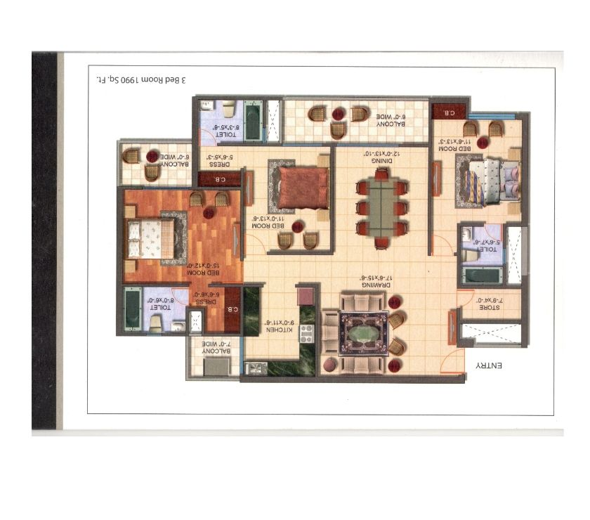 Houses & Flats for sale Ghaziabad - Photos for 1990 Sq. Ft. 3 BHK Flats for Sale