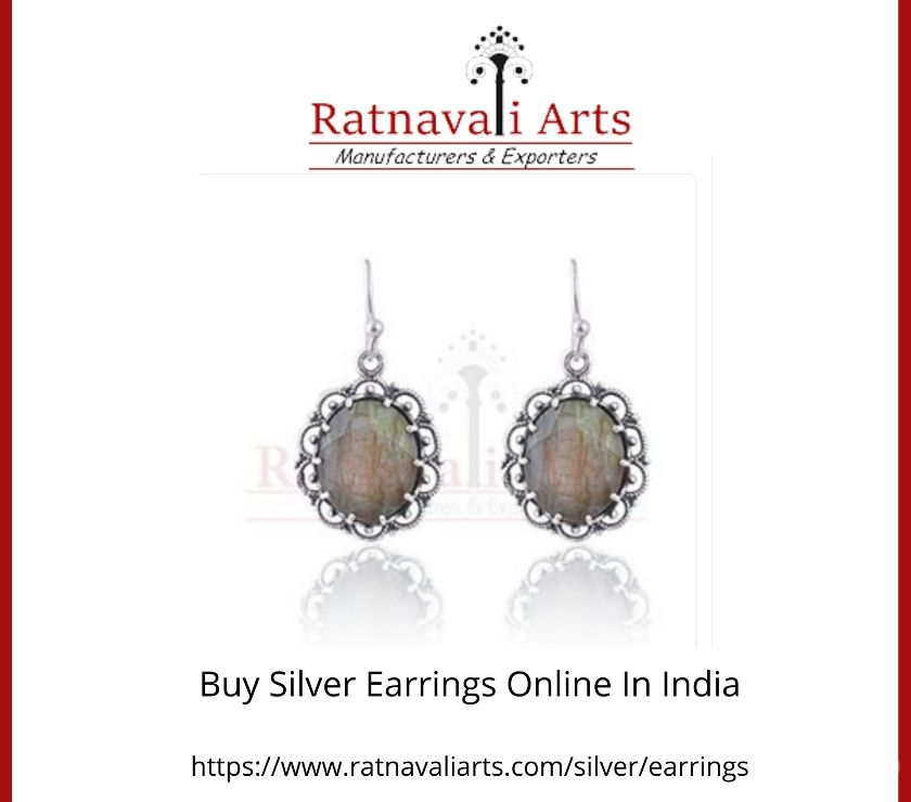 Fashion accessories Jaipur - Photos for Buy Silver Earrings Online In India | Ratnavaliarts