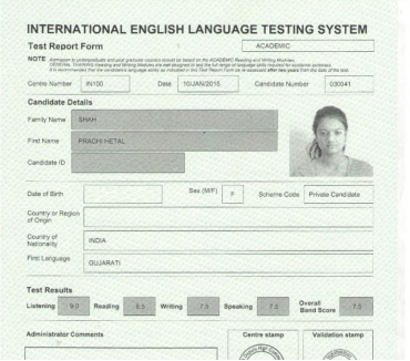 Photos for ielts certificate for students