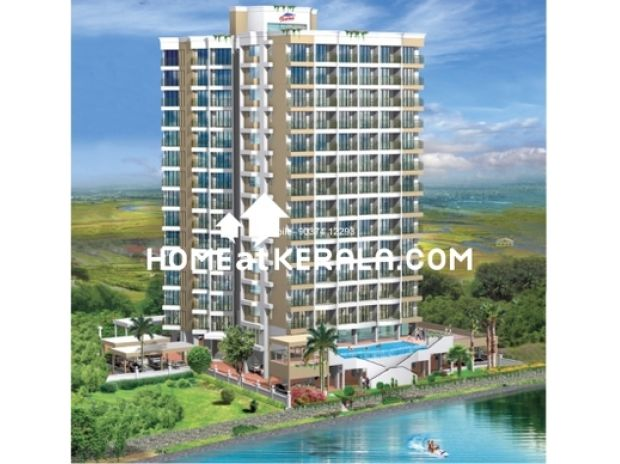 Houses & Flats for sale Ernakulam - Photos for Furnished Waterfront 4 bed skylines flat in Aluva for sale